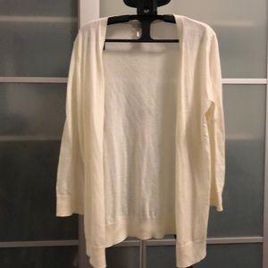 Loft cream colored cardigan